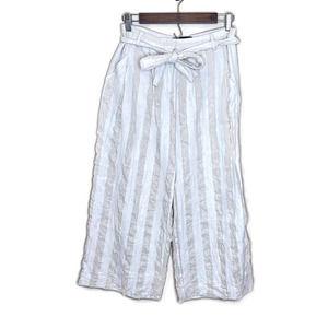Who What Wear women's linen blend palazzo pants 6